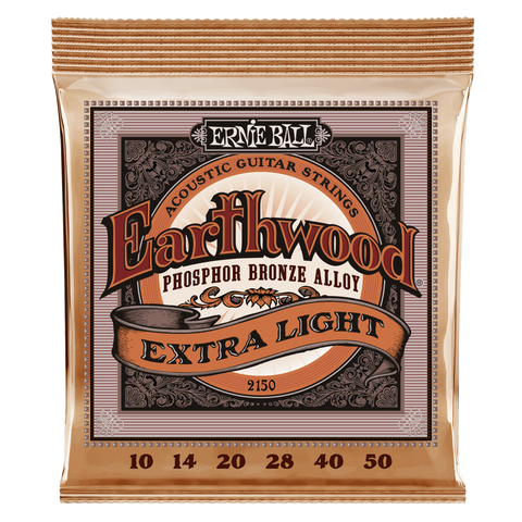 Ernie Ball Earthwood Phosphor-Bronze Acoustic Guitar Strings