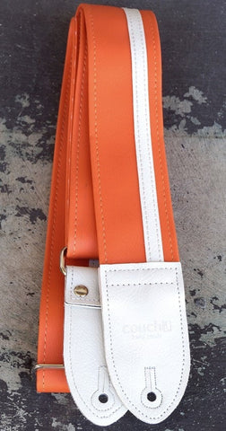 Couch Racer X Strap - Orange with White Racing Strip - Somerset Music