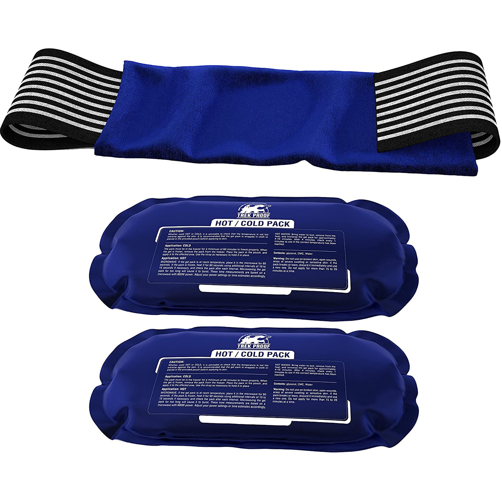 Hot & Cold Packs(2) with wrap-Health and Personal Care-TrekProof