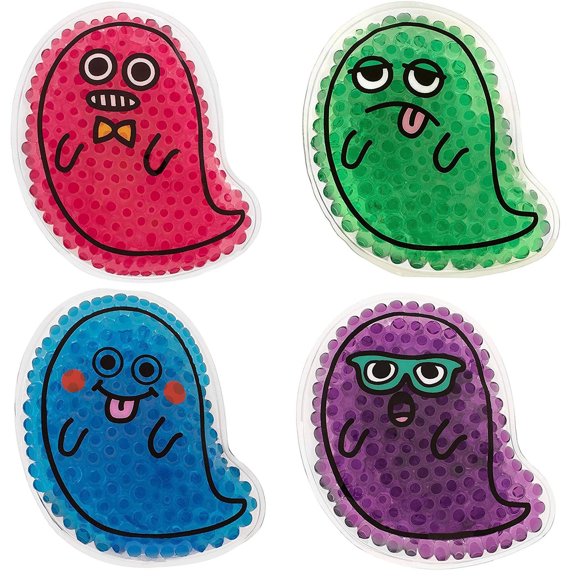 Kid's Ghost Ice Packs (4)-Health and Personal Care-TrekProof