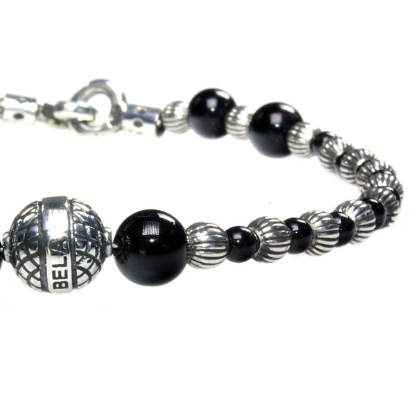 Women's bracelet Luxury B3 Onyx and Sterling Silver