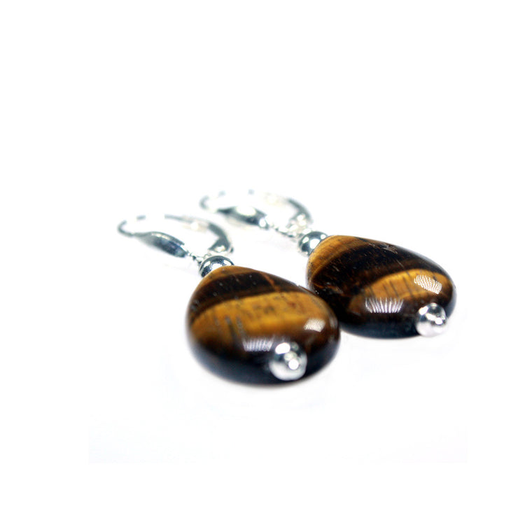 Earrings trendy - Tiger Eye