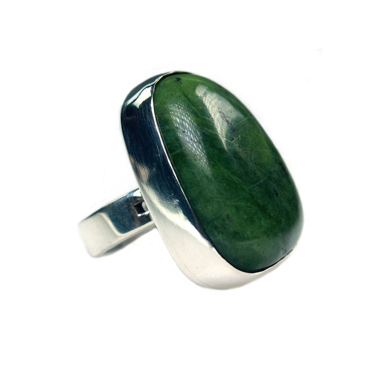 Women's ring Supreme - Jade and Sterling Silver