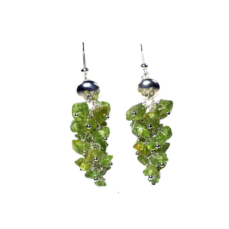 Earrings - Peridot and Sterling silver