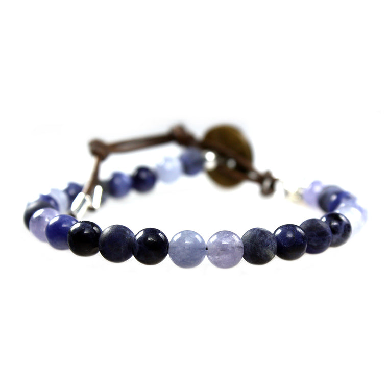 Women's bracelet classic Blue Jeans - Sodalite and blue Quartz