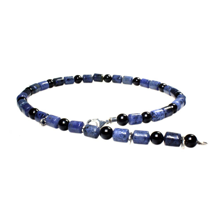 Anklets for men classic - Sodalite and Onyx
