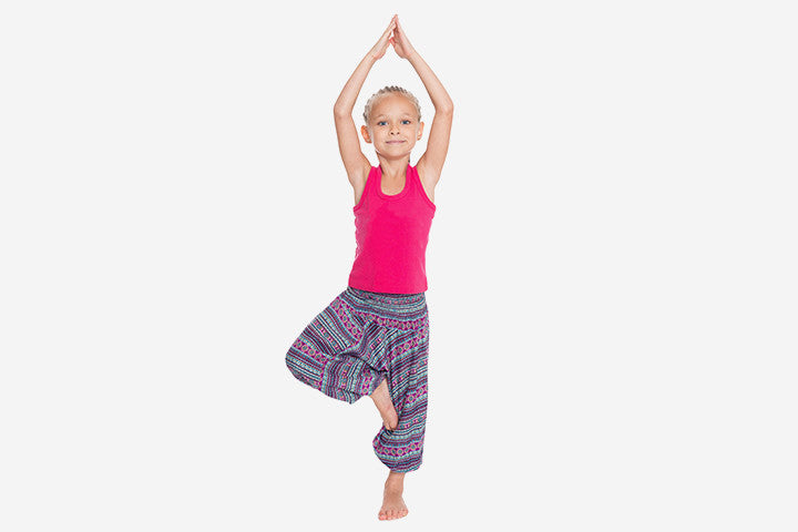 Did You See The First Parent's Child Yoga Exercise POSE? POSE #2 - The Tree Pose (Vrkasana)