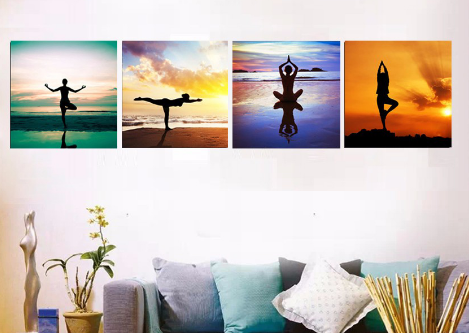 LIMITED EDITION 4 Piece Yoga Poses Canvas