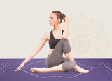 Premium Yoga Mat with Position Line