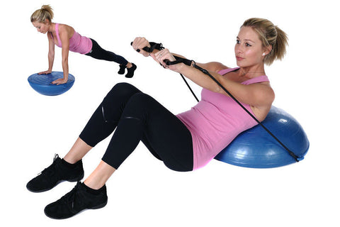 Bosu Ball With Half Resistance Band And Inflator Pump