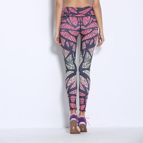 Gradient Print Yoga Pants