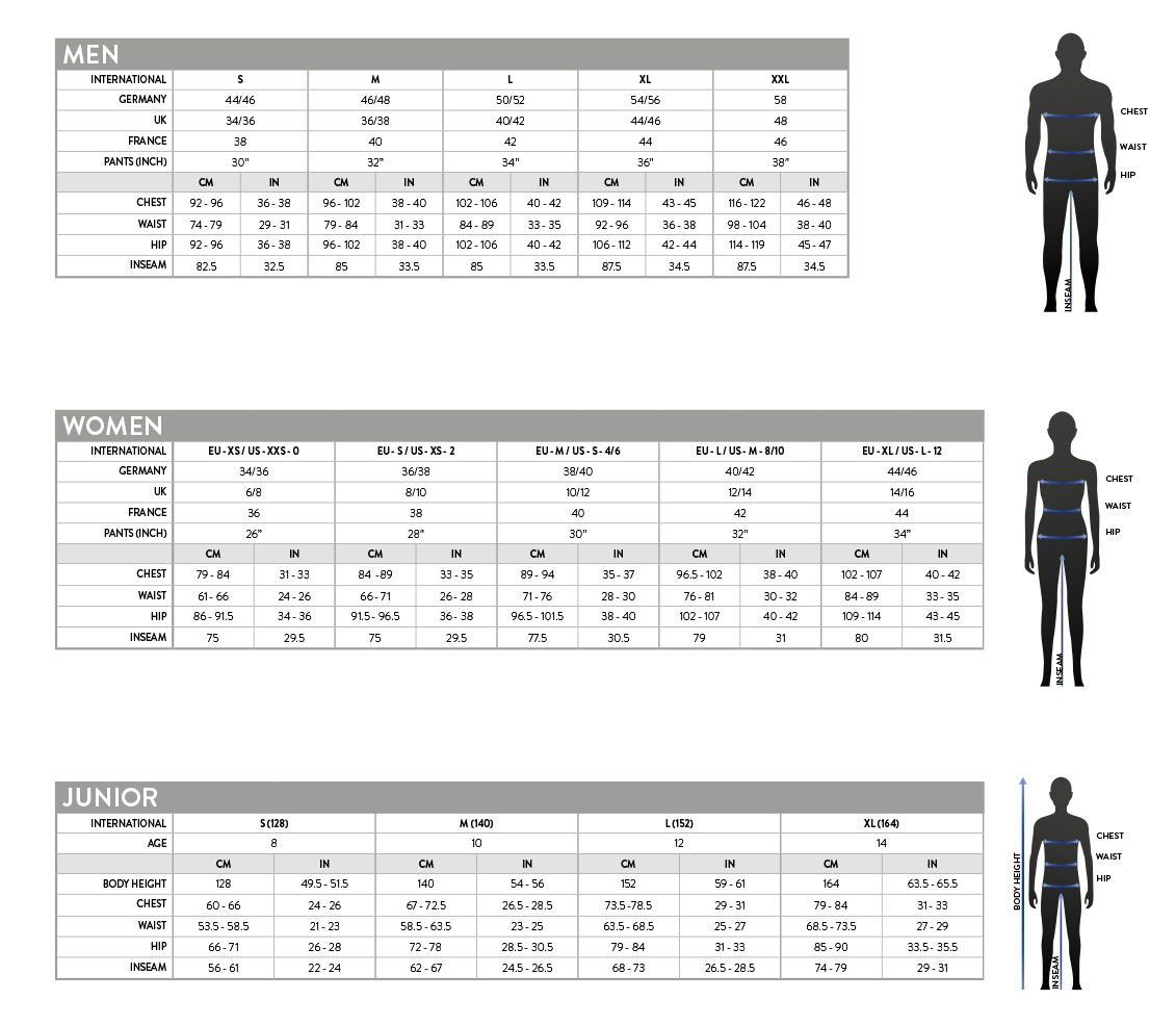 Scott Clothing Size Chart - Bikes n Gear Ltd 3c81d5b98