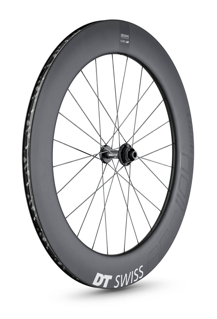 DT SWISS ARC 1100 DICUT® 80 DISC CARBON CLINCHER WHEEL (TUBELESS READY)