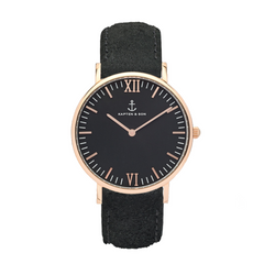 KAPTEN & SON CAMPINA BLACK ALL BLACK VINTAGE 36MM