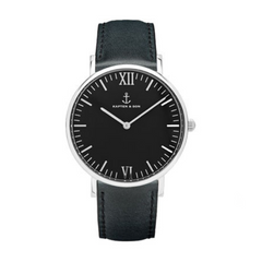 KAPTEN & SON CAMPUS BLACK ALL BLACK 40MM