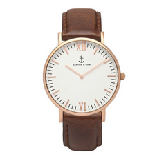 KAPTEN & SON CAMPUS WHITE BROWN 40MM