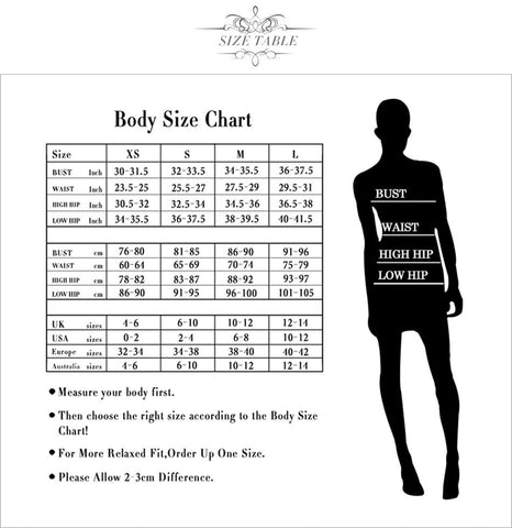 Adyce Collection - Featured by Fashion NetClub - Size Chart Suggestions