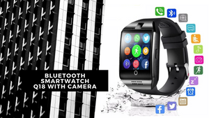 Bluetooth Smartwatch Q18 With Camera - Fashion NetClub