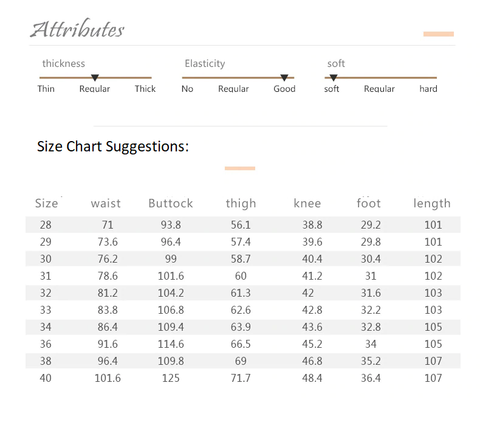 Jantour Brand Solid Long Trousers - Size Chart Suggestions - Fashion NetClub