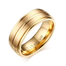 Load image into Gallery viewer, Black/Golden Rings 100% Titanium - Fashion Netclub