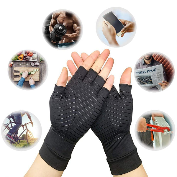 Compression Half Finger Gloves - Fashion Netclub