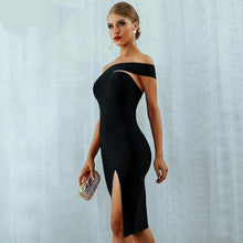 Load image into Gallery viewer, One Shoulder Midi Celebrity Dress - Fashion NetClub