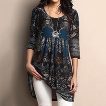 Load image into Gallery viewer, Plus Size Long Tee Top-Tunic - Fashion NetClub