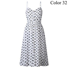 Load image into Gallery viewer, Polka Dots Cotton Midi Dress - Fashion Netclub