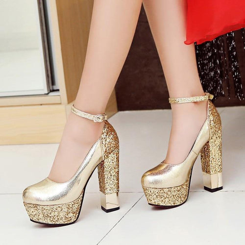 Bling Upper Punps Shoes - Fashion Netclub