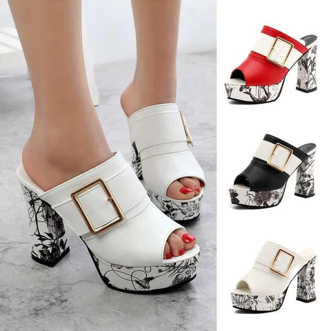 Elegant Buckle High Heel Sandals - Fashion Netclub