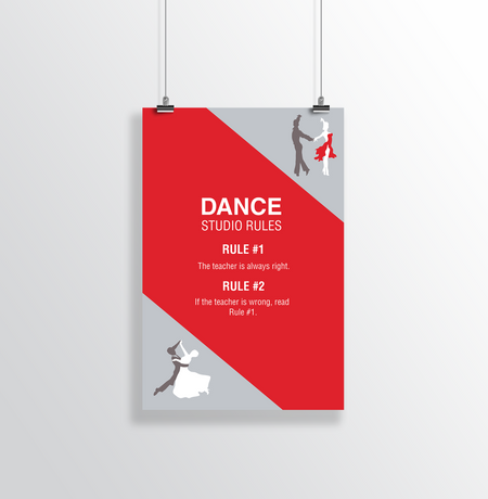 Dance Studio Rules Poster