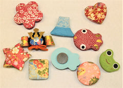 "[Magnets] Decorated Magnets with Japanese Craft Paper ""MINOWASHI"""