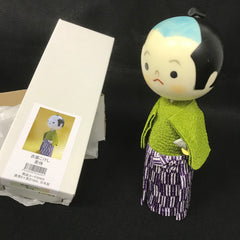 Washi Kokeshi Doll decorated with Japanese Traditional Paper Mino-Washi