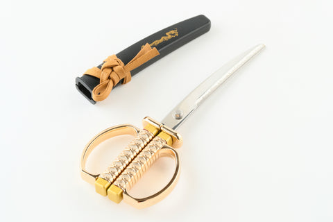 SAMURAI SCISSORS Design GOLD [Samurai Stationary] - JAPANESE GIFTS