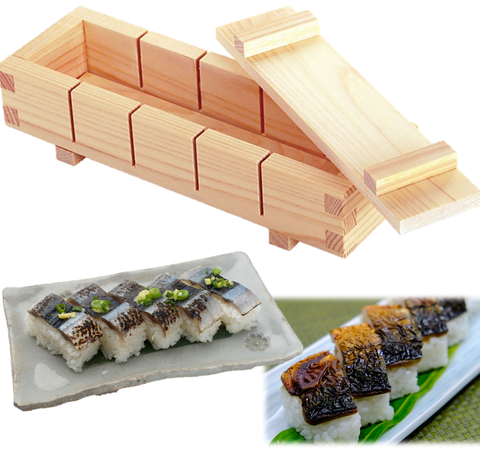 SUSHI Press Mold Easy Cut Guide 5 pc. Pro Tool HINOKI Cypress Wood OSHIZUSHI YAMACO - JAPANESE GIFTS