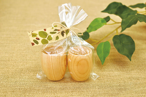 Naturalist -  Hinoki Wood Sake Cup 2 pc. Set [Yamaco] - JAPANESE GIFTS