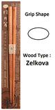 Hashi Japanese Chopstick Zelkova Wood Grain Oval Grip Handicrafts [Yamaco] - JAPANESE GIFTS