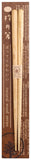 Hashi Japanese Chopstick Chestnuts Wood Grain Oval Grip Handicrafts [Yamaco] - JAPANESE GIFTS