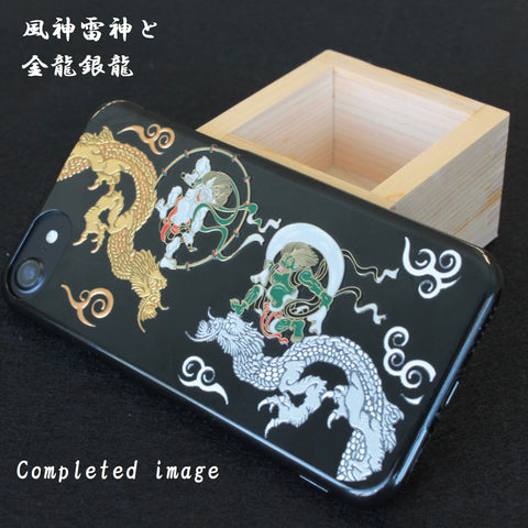 [Thunder & Wind Gods & Dragons] iPhone Case DIY Kit Japanese Traditional pattern - JAPANESE GIFTS
