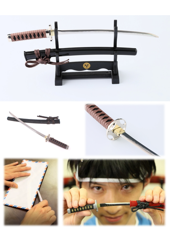 Letter Opener SAMURAI KATANA SWORD Knife Desk Decor item 8 inch Length Safe Edge Saito Hajime Model MT-34H - JAPANESE GIFTS