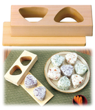 Rice Ball ONIGIRI Maker Press Mold Triangle Natural HINOKI Cypress Wood YAMACO - JAPANESE GIFTS