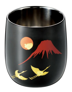 Shi-Moa Cup Urushi [Makie] 250ml for Whisky - JAPANESE GIFTS