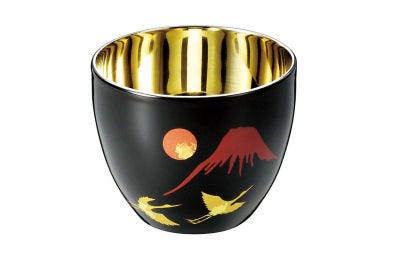 Shi-Moa Cup Urushi [Makie] 58ml 1.9oz for Cold Sake - JAPANESE GIFTS