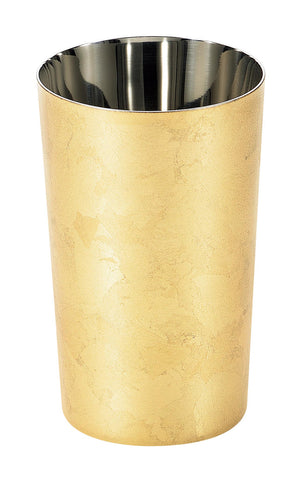 Shi-Moa Gold Leaf Whisky Soda Cup Stainless Steel Double Walled URUSHI Japanese Lacquer 370 ml - JAPANESE GIFTS