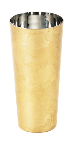 Shi-Moa Gold Leaf Beer Cup Stainless Steel Double Walled URUSHI Japanese Lacquer 350 ml Pilsner - JAPANESE GIFTS