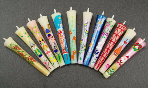Annual event candles 12 pieces set - JAPANESE GIFTS