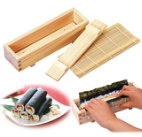 Easy & Clean Sushi Roll Mold Press HINOKI & Bamboo [YAMACO] - JAPANESE GIFTS