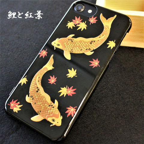 [Carp & Maple] Completed iPhone Case Japanese Traditional pattern - JAPANESE GIFTS