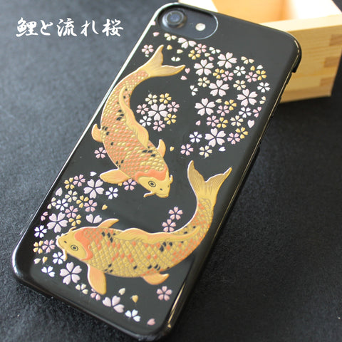 [Carp & Cherry Blossom] Completed iPhone Case Japanese Traditional pattern - JAPANESE GIFTS