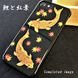 [Carp & Maple] iPhone Case DIY kit Japanese Traditional pattern - JAPANESE GIFTS